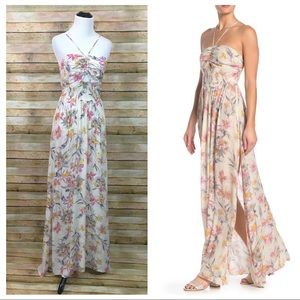 NWT Free People One Step Ahead Floral Maxi Dress M